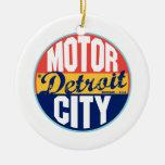 Etiqueta del vintage de Detroit Adorno Para Reyes