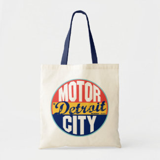 Etiqueta del vintage de Detroit Bolsas De Mano