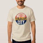Etiqueta del vintage de Detroit Camisas