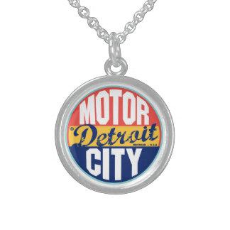 Etiqueta del vintage de Detroit Pendiente Personalizado