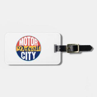 Etiqueta del vintage de Detroit Etiqueta De Equipaje