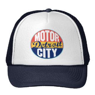 Etiqueta del vintage de Detroit Gorras De Camionero