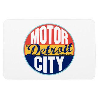 Etiqueta del vintage de Detroit Iman