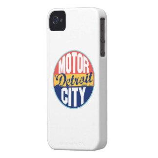 Etiqueta del vintage de Detroit iPhone 4 Cárcasas