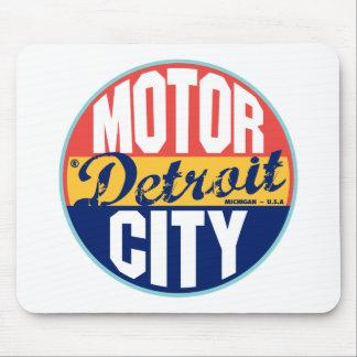 Etiqueta del vintage de Detroit Mousepads