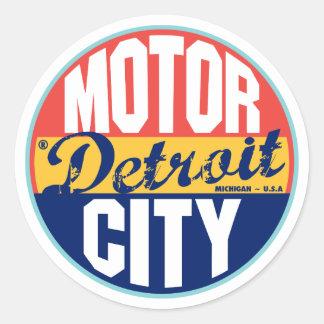 Etiqueta del vintage de Detroit