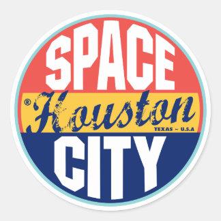 Etiqueta del vintage de Houston