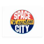 Etiqueta del vintage de Houston Postal