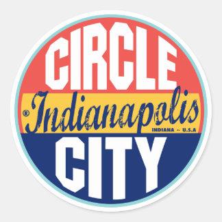 Etiqueta del vintage de Indianapolis