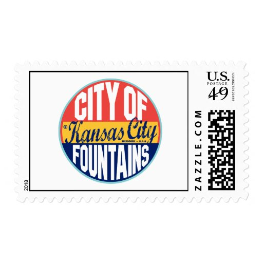 Etiqueta del vintage de Kansas City Franqueo