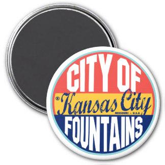 Etiqueta del vintage de Kansas City Imán De Frigorífico