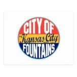 Etiqueta del vintage de Kansas City Postal