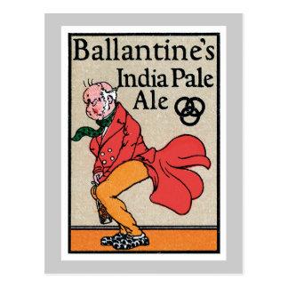 Etiqueta del vintage de la cerveza clara de la Ind Tarjetas Postales