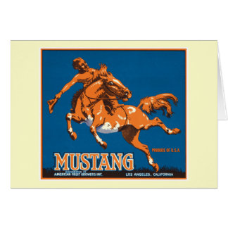 Etiqueta del vintage de la fruta del mustango tarjetas