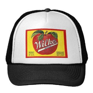 Etiqueta del vintage de las manzanas de la marca d gorra