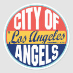 Etiqueta del vintage de Los Ángeles