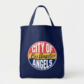 Etiqueta del vintage de Los Ángeles Bolsa Tela Para La Compra