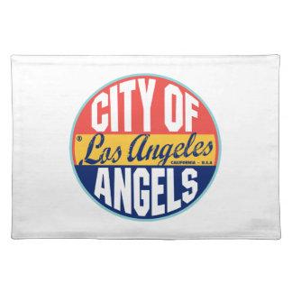 Etiqueta del vintage de Los Ángeles Manteles Individuales