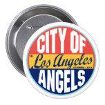 Etiqueta del vintage de Los Ángeles Pin Redondo 7 Cm