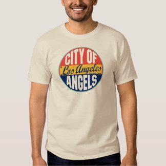 Etiqueta del vintage de Los Ángeles Poleras