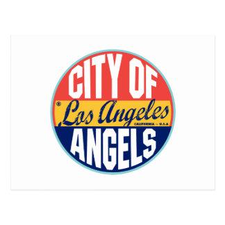 Etiqueta del vintage de Los Ángeles Postal