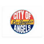 Etiqueta del vintage de Los Ángeles Tarjeta Postal