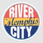 Etiqueta del vintage de Memphis