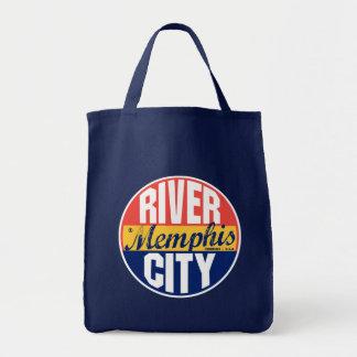 Etiqueta del vintage de Memphis Bolsa Tela Para La Compra