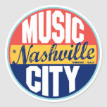 Etiqueta del vintage de Nashville