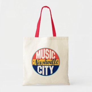 Etiqueta del vintage de Nashville Bolsa Lienzo