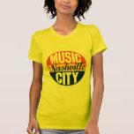 Etiqueta del vintage de Nashville Camiseta