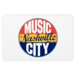 Etiqueta del vintage de Nashville Imán De Vinilo