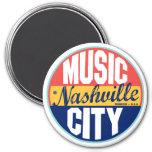 Etiqueta del vintage de Nashville Imán Redondo 7 Cm