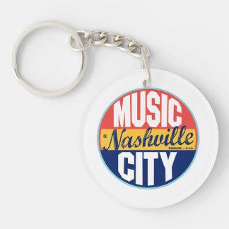 Etiqueta del vintage de Nashville Llavero