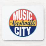 Etiqueta del vintage de Nashville Mouse Pad