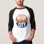 Etiqueta del vintage de Nashville Playeras