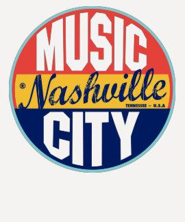 Etiqueta del vintage de Nashville Remeras