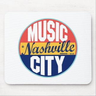 Etiqueta del vintage de Nashville Alfombrilla De Raton