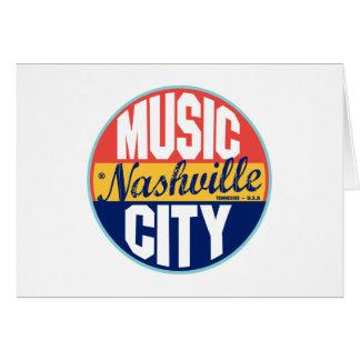 Etiqueta del vintage de Nashville Tarjeton