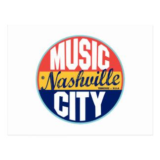 Etiqueta del vintage de Nashville Tarjetas Postales