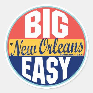 Etiqueta del vintage de New Orleans