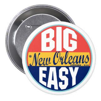 Etiqueta del vintage de New Orleans Pin Redondo De 3 Pulgadas