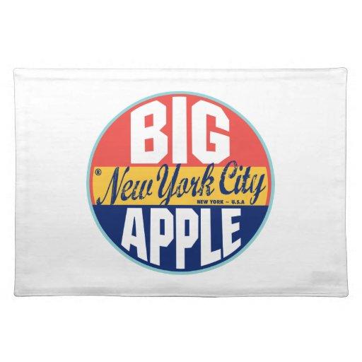 Etiqueta del vintage de Nueva York Manteles