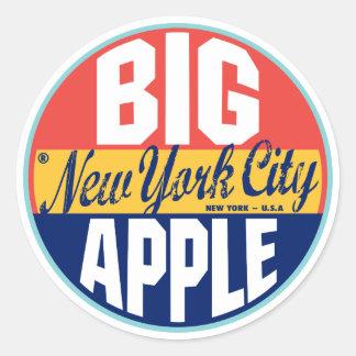 Etiqueta del vintage de Nueva York