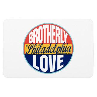 Etiqueta del vintage de Philadelphia Imán