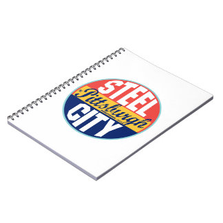 Etiqueta del vintage de Pittsburgh Spiral Notebooks