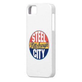 Etiqueta del vintage de Pittsburgh Funda Para iPhone SE/5/5s