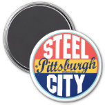 Etiqueta del vintage de Pittsburgh Imán Redondo 7 Cm