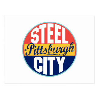 Etiqueta del vintage de Pittsburgh Postales