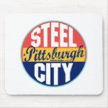 Etiqueta del vintage de Pittsburgh Tapete De Raton